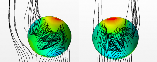 Исследование механизма переключения при обтекании глубоких лунок